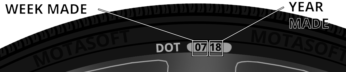 Tyre dot markings image - Tyres Christchurch